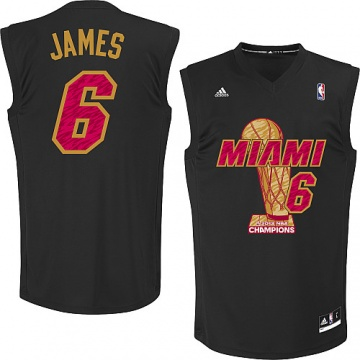 Lebron James 2013 NBA Finals Champions Jersey