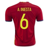 Home Jersey Spain 2016 Iniesta