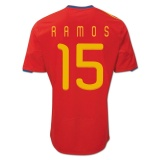 Home Jersey Spain 10/11 Sergio Ramos