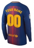 Home LS Jersey FC Barcelona 17/18 YOUR NAME