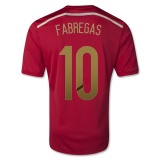 Home Jersey Spain 2014 Fabregas