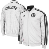 Brooklyn Nets Full Zip Track Jacket - White