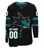 YOUR NAME San Jose Sharks Third Jersey 18/19