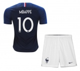KIDS Home Jersey France Mbappe 2018