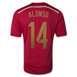 Home Jersey Spain 2014 Alonso