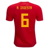 Home Jersey Spain 2018 Iniesta