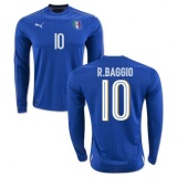 Home LS Jersey Italy 2016 Baggio