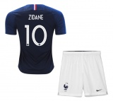 KIDS Home Jersey France Zidane 2018