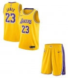 Lebron James Lakers Home jersey + shorts (swingman)