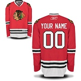 YOUR NAME Chicago Blackhawks Home Jersey