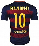 Home Authentic Jersey FC Barcelona 15/16 Ronaldinho
