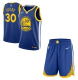 Stephen Curry Warriors Blue jersey + shorts (swingman)