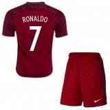 KIDS Home Jersey Portugal 2016 Ronaldo