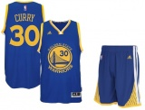 Stephen Curry Warriors Road jersey + shorts (swingman)