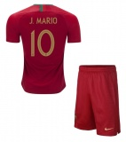 KIDS Home Jersey Portugal 2018 Mario
