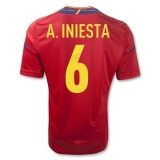 Home Jersey Spain 11/13 Iniesta