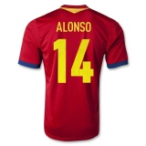 Home Jersey Spain 13/14 Alonso