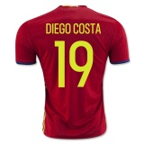 Home Jersey Spain 2016 Diego Costa