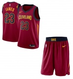 Lebron James Cavaliers Maroon jersey + shorts (swingman)