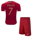 KIDS Home Jersey Portugal 2018 Ronaldo