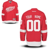 YOUR NAME Detroit Red Wings Home Jersey