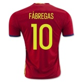 Home Jersey Spain 2016 Fabregas