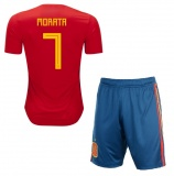 KIDS Home Jersey Spain 2018 Morata