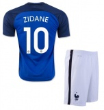 KIDS Home Jersey France 2016 Zidane