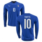 Home LS Jersey Italy 2016 Totti
