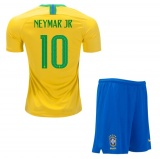 KIDS Home Jersey Brazil 2018 Neymar JR