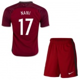 KIDS Home Jersey Portugal 2016 Nani