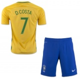 KIDS Home Jersey Brazil 2016 Costa