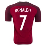 Home Authentic Jersey Portugal 2016 Ronaldo