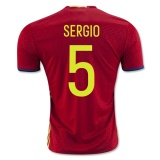 Home Jersey Spain 2016 Sergio