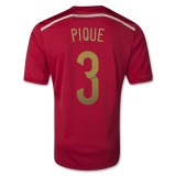 Home Jersey Spain 2014 Pique