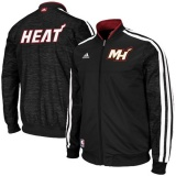 Adidas Miami Heat Full Zip Track Jacket - Black