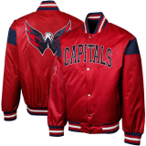 Washington Capitals Nylon Satin Full Button Jacket