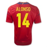 Home Jersey Spain 11/13 Alonso