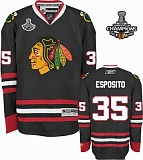 Esposito Chicago Blackhawks Black Jersey