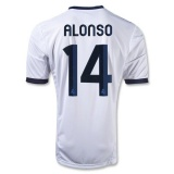 Home Jersey FC Real Madrid 12/13 Alonso